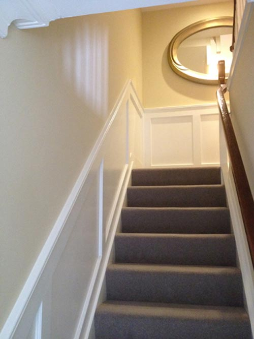 bespoke joinery stair paneling